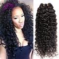 VIP Belleza Del Pelo de malasia Pelo Rizado Malasio de la Onda Profunda Malasia 3 UNIDS Kinky Curly Hair Bundles Bele Ali moda Pelo No Shed 8-30