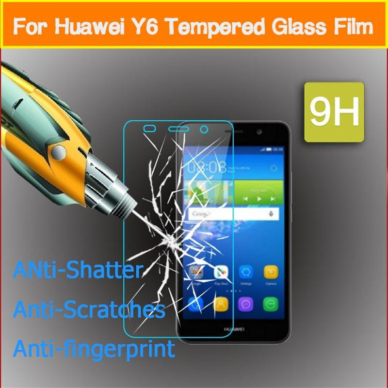 Tempered <font><b>Glass</b></font> For <font><b>Huawei</b></font> <font><b>Y6</b></font> 2019 <font><b>2018</b></font> <font><b>Y6</b></font> Pro Y6ii <font><b>Y6</b></font> II Compact Y6pro 2017 Holly 2 3 Plus Screen Protector <font><b>Protective</b></font> Film image