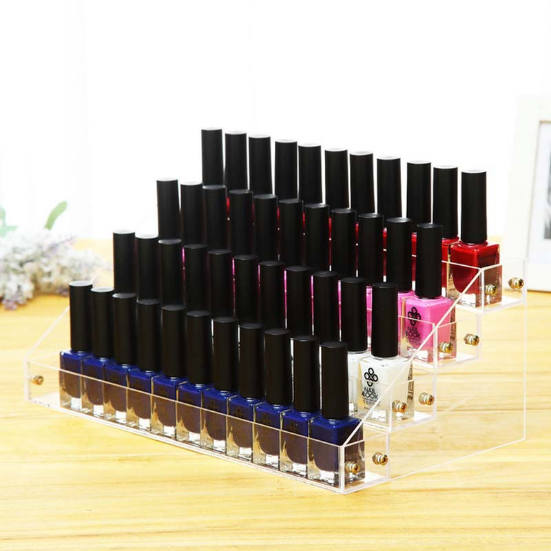 Nail Polish Layers: 4 Layers Nail Polish Cosmetic Organizer Storage Holder