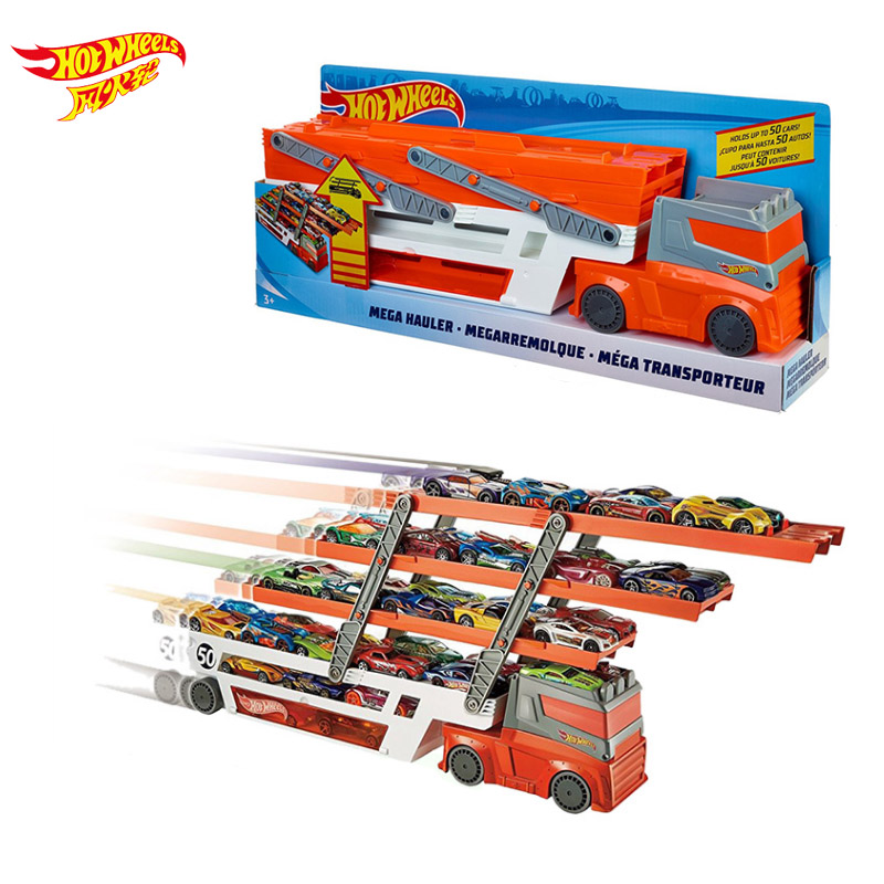 Roues chaudes véhicules de Transport lourds Hotwheels 6 couche petite voiture jouet évolutif stockage Transporter camion garçon jouet éducatif
