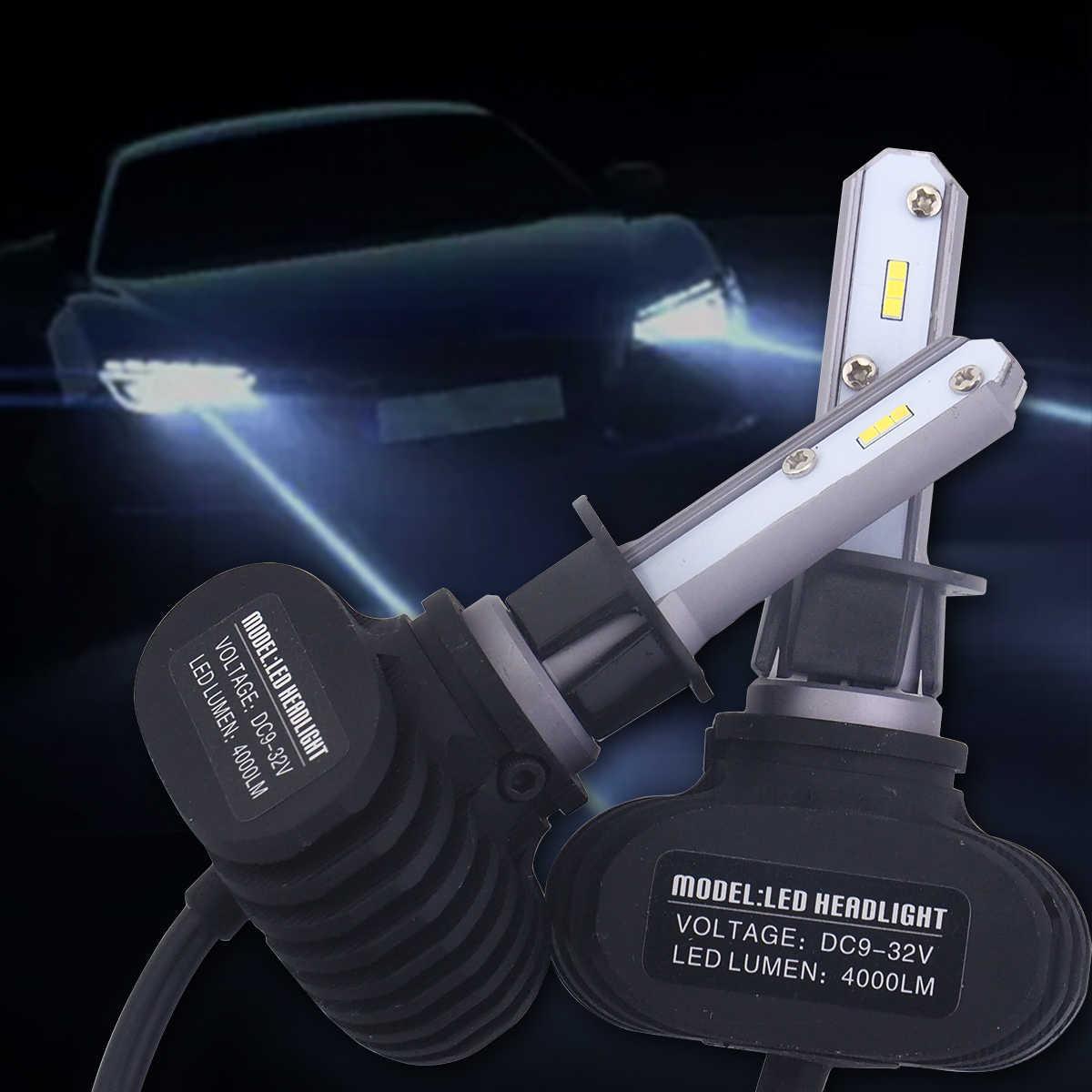 Пара S1 автомобильных фар автомобиля светодио дный огни Автомобильные фары H1 H4 H7 H8/9/11 9005 9006 автомобиль дальнего света 6500 К