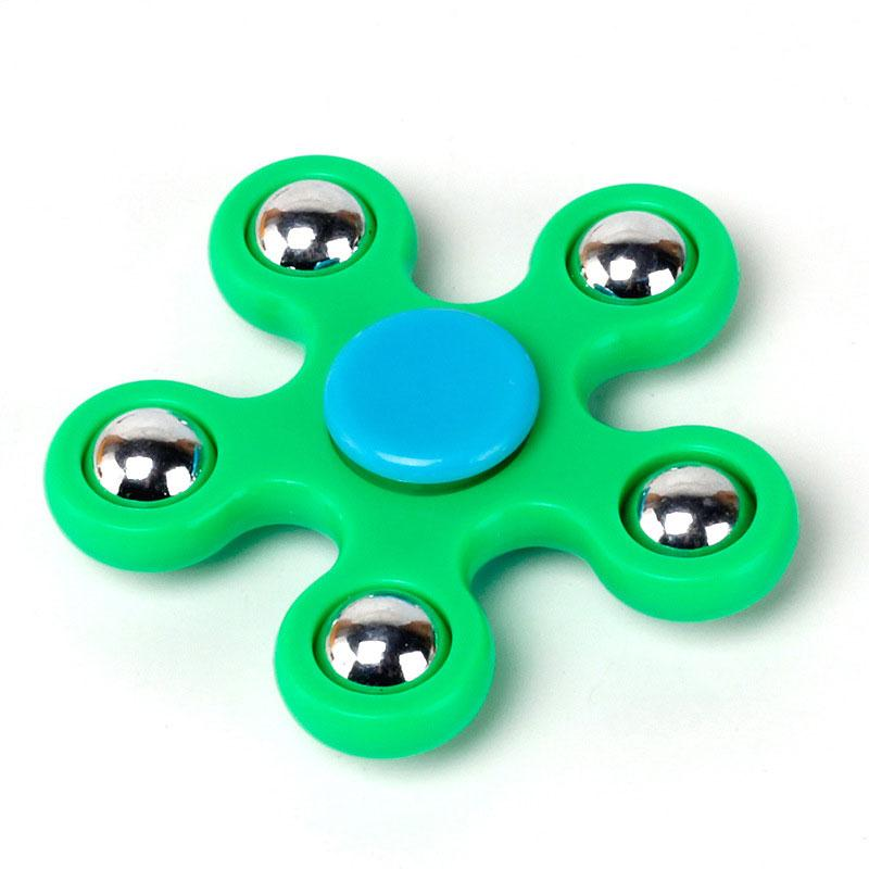 Random Color Figet Spinner Steel Ball EDC ADHD Autism Relief Stress Bearing Torqbar Toy Adults Kids Hand Spinner