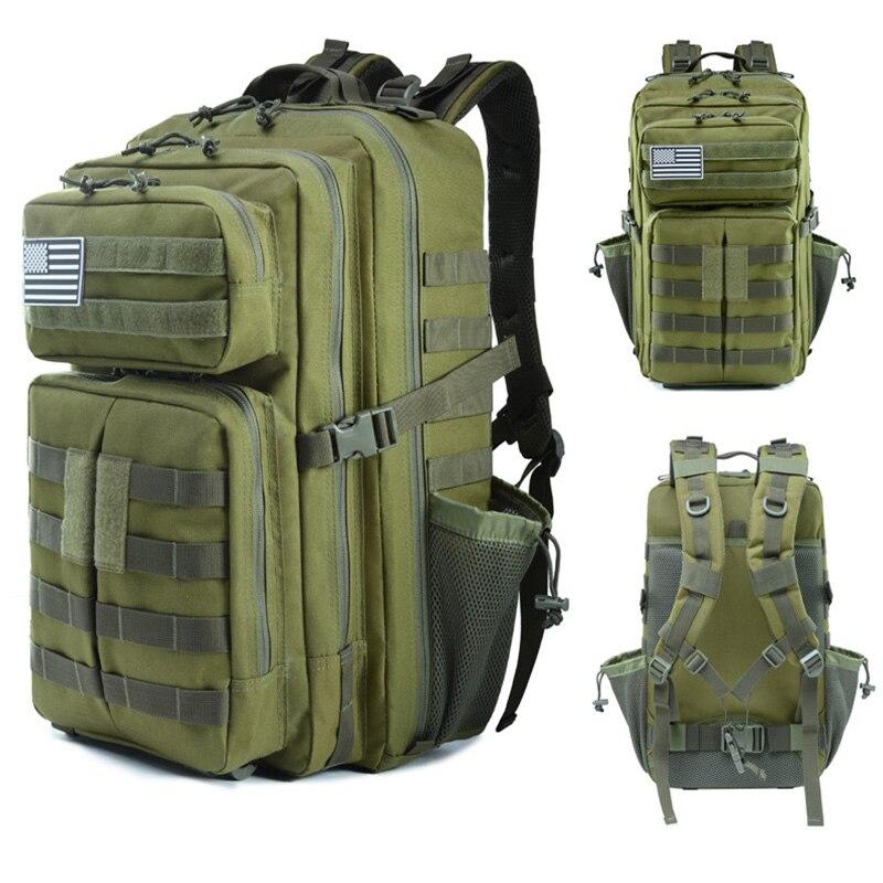 Hot 45L militaire tactique assaut Pack sac à dos armée sac étanche sac petit sac à dos pour la randonnée en plein air Camping chasse