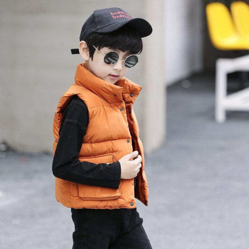 Theshy Children Girl Boys Baby Winter Warm Coats Vest Zipper Thick Hoodie Outerwear Sleeveless Cotton Vest