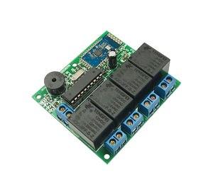Image 5 - Cerradura para puerta de Bluetooth, 4 canales cc 12v, control de acceso Bluetooth, cambio de aplicación de teléfono móvil, módulo de relé Bluetooth inalámbrico remoto