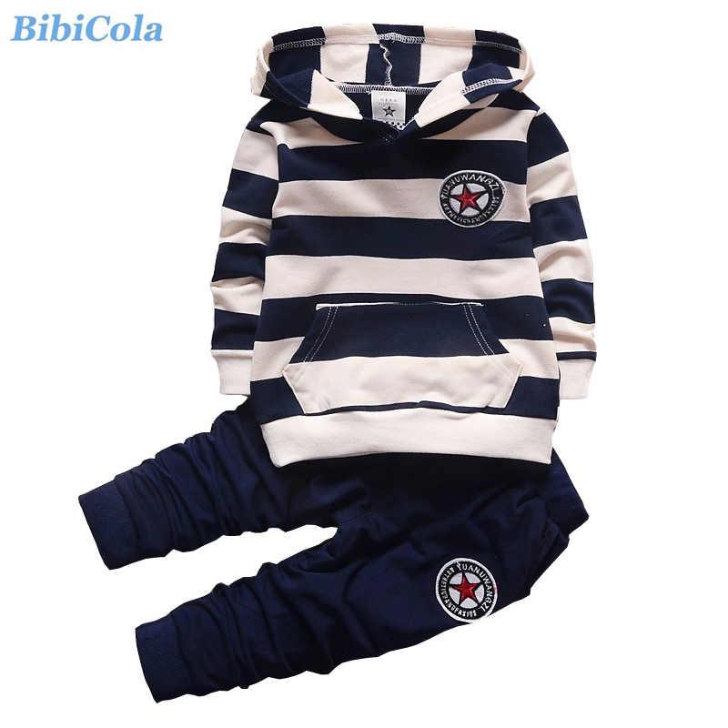 b2a7238574c6 Bibicola Новые модные весна-осень комплекты одежды для мальчиков Дети Обувь  для мальчиков толстовки