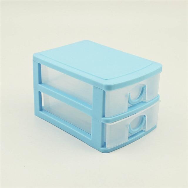 2016 Hot Portable 2 Layer Plastic Storage Drawer Make Up