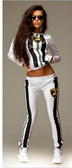 efb5bda7d670f Envío 2016 algodón chándal de mujer de marca imprimir Sport Suit sudaderas  Pant 2 unidades Jogging