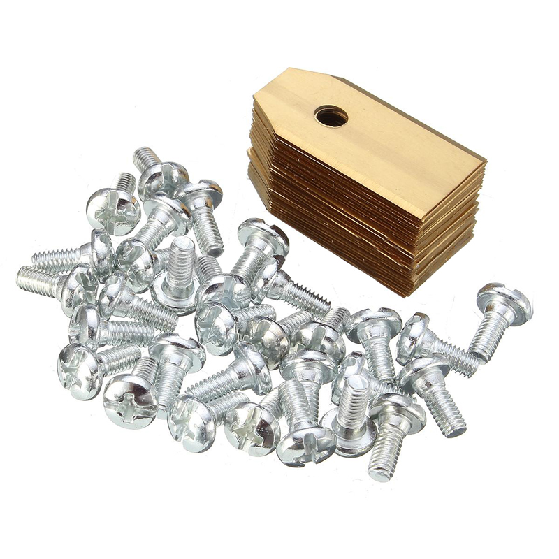 30pcs Gold Titanium Replacement Lawnmower Blades with Screws for Garden Automower Grass Trimmer Garden Tools