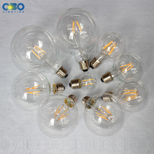 Edison LED Bulbs G80/G95/G125 E27 Lamp Holder 110-240V Warm White Vintage Decoration Shop Energy Saving Bulb Free Shipping