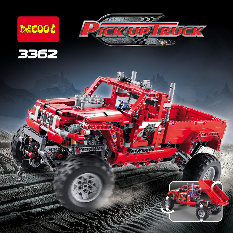 Decool Technic City 2 Model Customized Pick Up Truck Building Blocks Bricks Model Kids Toys Marvel Compatible Legoe decool technic city series excavator building blocks bricks model kids toys marvel compatible legoe