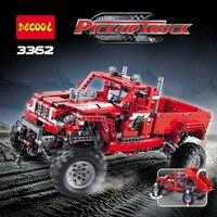 Decool teknik şehir 2 modeli özelleştirilmiş pick up kamyon yapı blokları tuğla modeli çocuk oyuncakları marvel uyumlu legoe