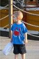2016 Crianças Menino Verão Conjunto Roupas Estampas de Animais T camisa + Calça de Cowboy Conjunto Bebê Do Sexo Masculino Crianças Roupas Bebe infantil topos de roupas