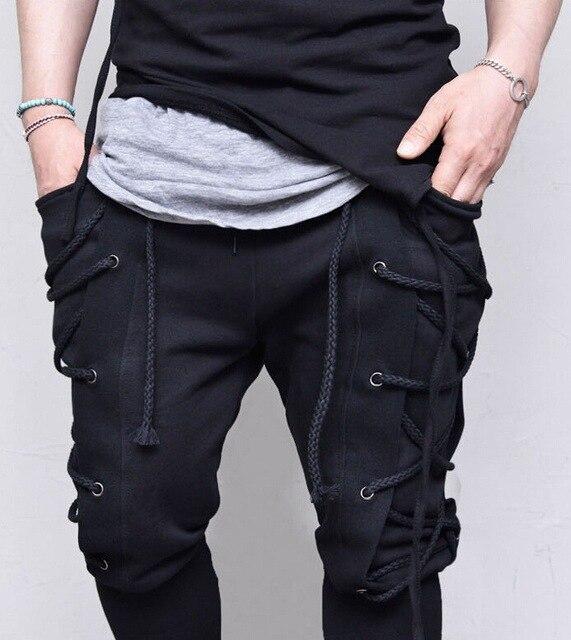 Pantalon de survêtement Baggy à œillets en corde pantalon de navigateur Viking médiéval pantalon de Bandage à la mode pantalon Renaissance Earl propriétaires pantalon S-3XL