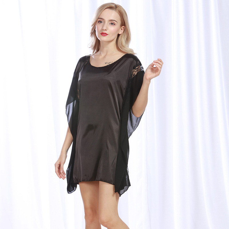 Summer Women Nightgown Sexy Nightwear Novelty Sleepwear New Lady Night Dress Charming Home Dress Soft Rayon Sleep Shirt