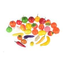 10 قطعة/الوحدة Hot البيع البلاستيك المطبخ الغذاء الفاكهة الخضار قطع الاطفال التظاهر اللعب التعليمية لعبة سلامة الأطفال المطبخ اللعب
