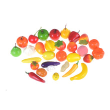 10pcs/lot Hot Sale Plastic Kitchen Food Fruit Vegetable Cutting Kids Pretend Play Educational Toy Safety Children Kitchen Toys