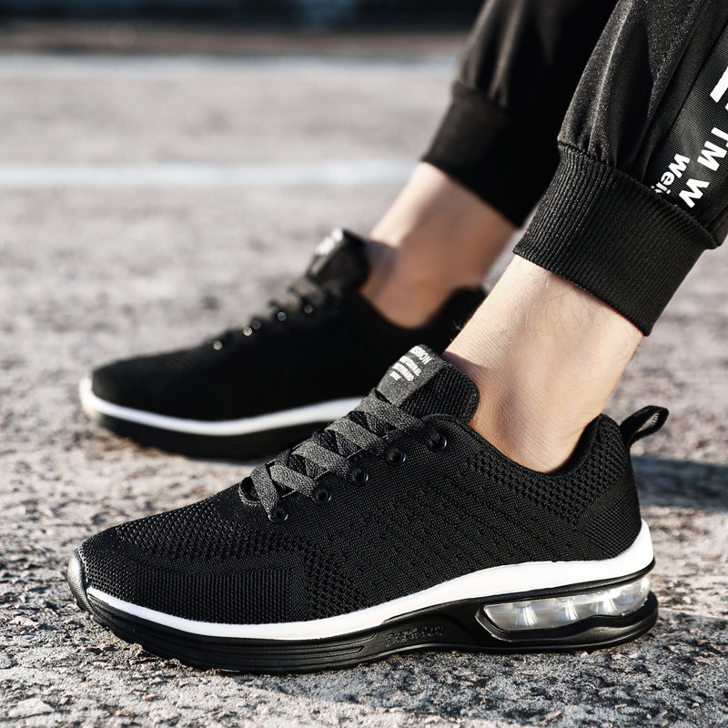 Summer Male Sports Shoes Run Gym Trail Running Shoes Men Light Weight Cushion Lace up Sneakers Fitness Shoes for Outdoor Walking