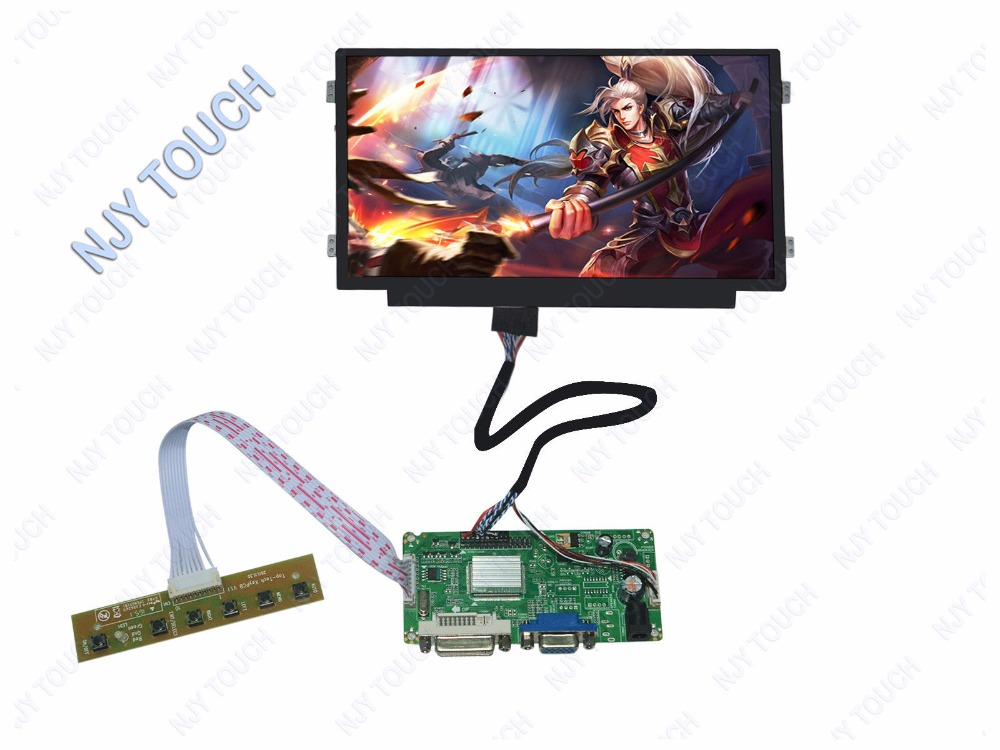 Free shipping DVI VGA LCD LVDS Controller Kit Plus 10.1 inch N101BGE-L31 1366X768 LED Screen Panel 13 3 laptop replacement screen lp133wh2 tl m5 lcd display panel monitor lp133wh2 tlm5 04w1768 lvds 1366x768 free shipping