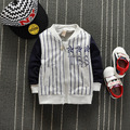 2017 new spring casual Baby Boys Cotton Children's letterstar Stripe Jackets Sport Baseball Cardigan Outwear Coats Y132