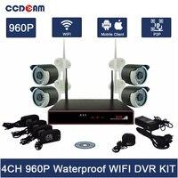 Zestaw 4CH Wifi NVR System Bezpieczeństwa 960 P Wifi IP Kamera z Zestaw 4CH NVR Bezprzewodowy AP Wifi 2.4 ghz Bezprzewodowa Kamera CCTV Kompletny zestaw