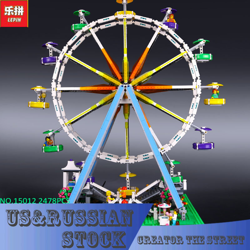 LEPIN 15012 City Creator Expert Ferris Wheel Model Building Kits Blocks  2478Pcs Bricks  Toys lepin 15012 2478pcs city series expert ferris wheel model building kits blocks bricks lepins toy gift clone 10247