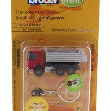 Bruder 1:128 Benz брелок грузовик отвертка бутик сплав автомобиль игрушки для детей Детские игрушки Модель оригинальная посылка