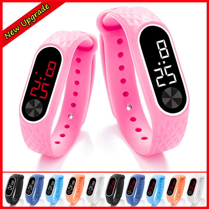 2019 New Children's Watches Kids LED Digital Sport Watch For Boys Girls Men Women Electronic Silicone Bracelet Wrist Watch Gift