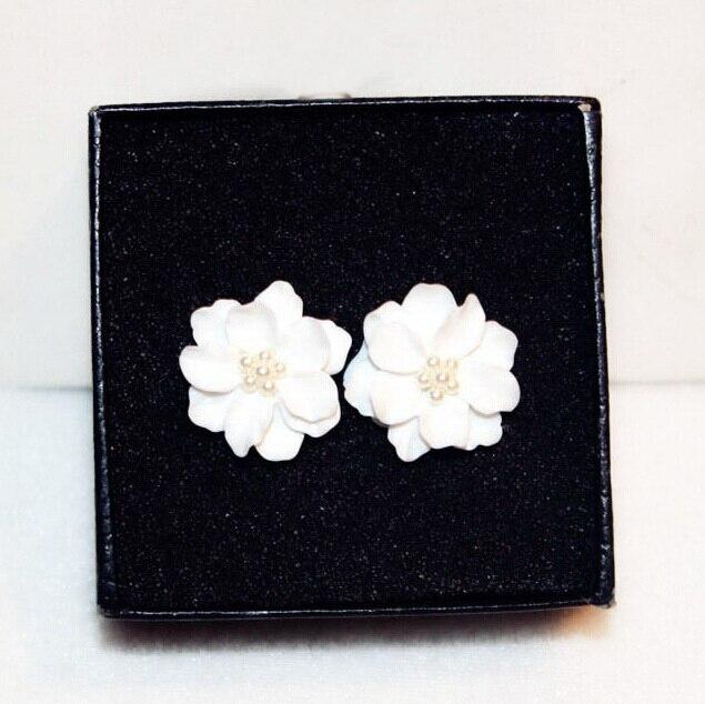 Classics Big White Flower kõrvarõngad naistele Fashion Jewelry - Mood ehteid - Foto 4