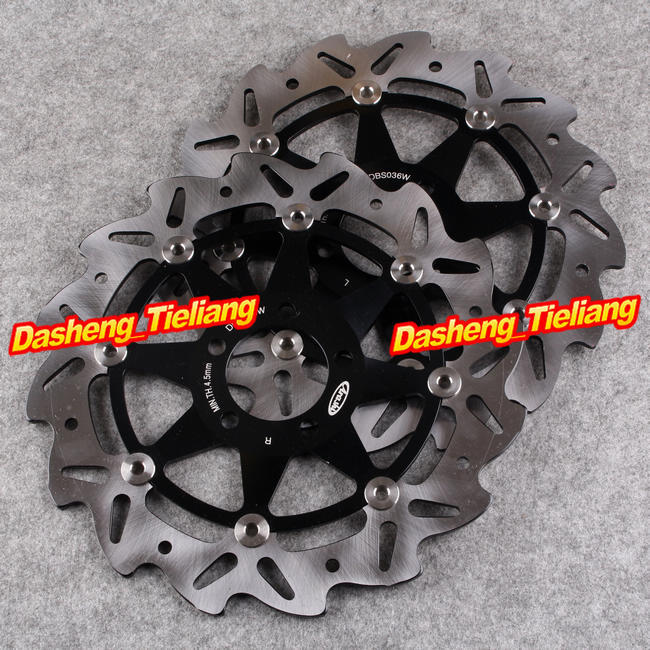 Front Brake Disc Rotors For Kawasaki ZXR GPZ ZZR 250 600 Z750 Ninja ZX6R ZX12R Black Color, Motorcycle Spare Parts цены онлайн