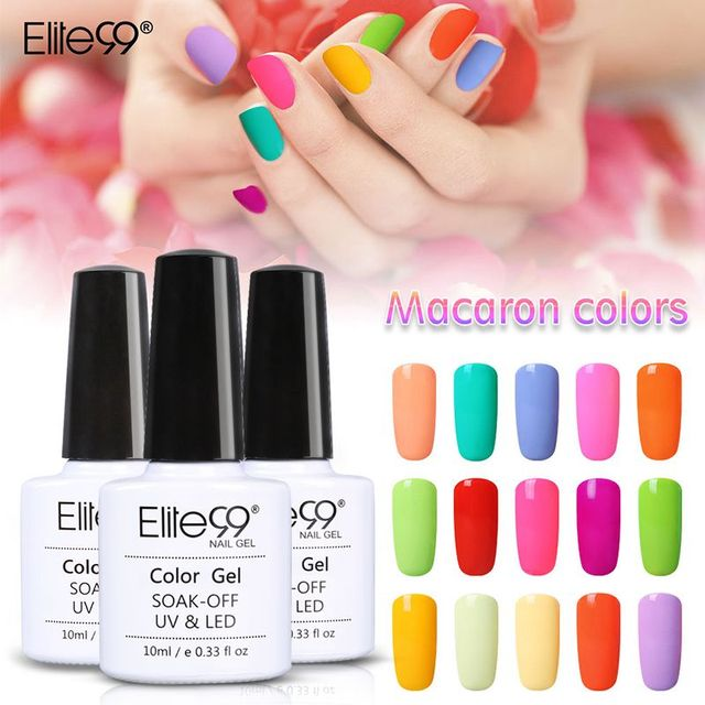 Elite99 10ml Macaron Colors Uv Gel Nail Polish Need Led Lamp Curing Set
