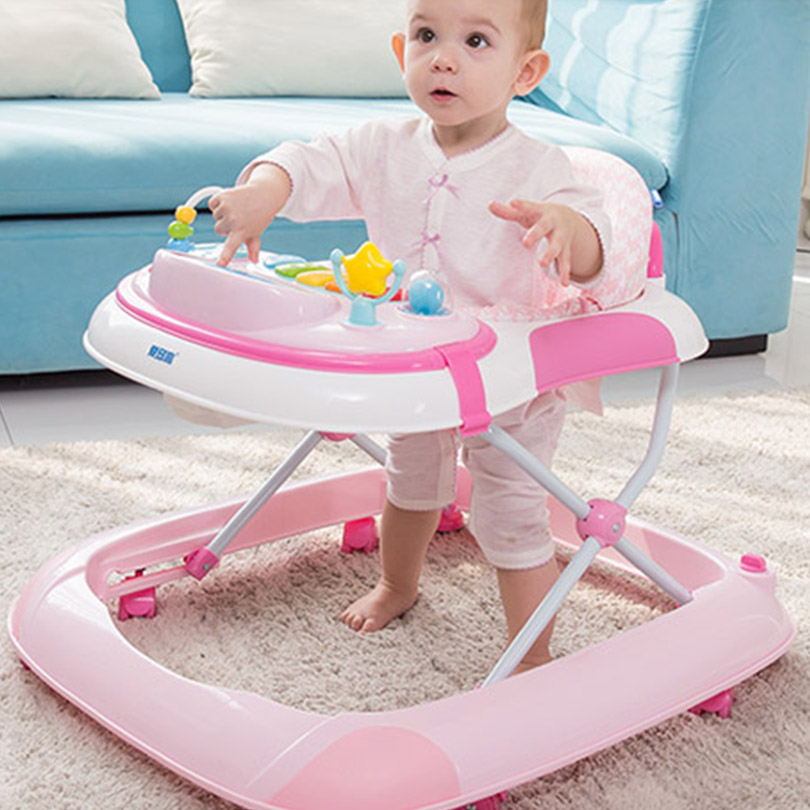 Baby Walker pink 2017 new arrival Baby walker multifunctional slammed child baby walker 7 - 18 monthes baby peter goldmann fraud in the markets why it happens and how to fight it