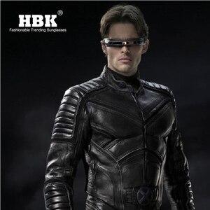 Image 2 - HBK x man laser Cyclops okulary projektant specjalne materiały pamięci spolaryzowane tarcza podróży okulary przeciwsłoneczne UV400 PC K40021