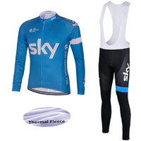 2018 wool warm team sky bike clothing with long sleeves quick dry cycling jerseys thin air cycling mountain bike clothes clothin