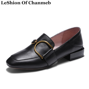Genuine Leather Female Loafers