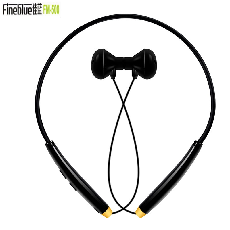 Original Fineblue FM-500 bluetooth Earphone 4.1 Wireless HeadphoneVibration NFC Sport Headsets For iPhone 6s Xiaomi For PC MP3 наушники bluetooth 3 0 iphone 6 6 samsung xiaomi htc bluetooth 3 0 sport earphone