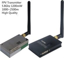 Alta Calidad 5.8 GHz 1200 mW Transmisor y Receptor con 2500 M UAV FPV/UGV Inalámbrico Transmisor de Vídeo CCTV transmisión