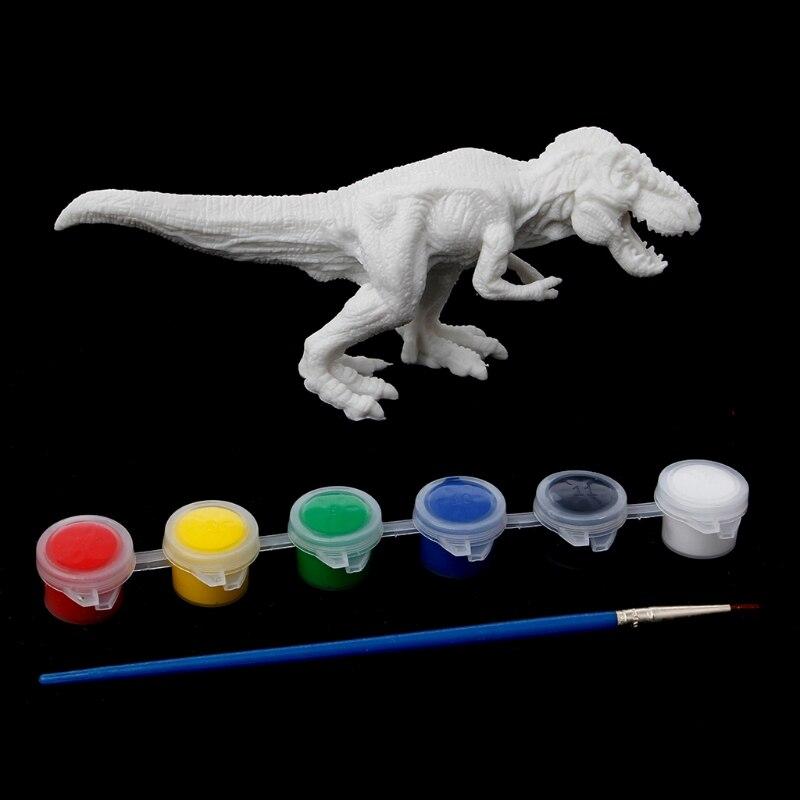 עשה זאת בעצמך צביעת ציור ציור גרפיטי דגם דינוזאור בעלי חיים צעצועי ילדי ילדי