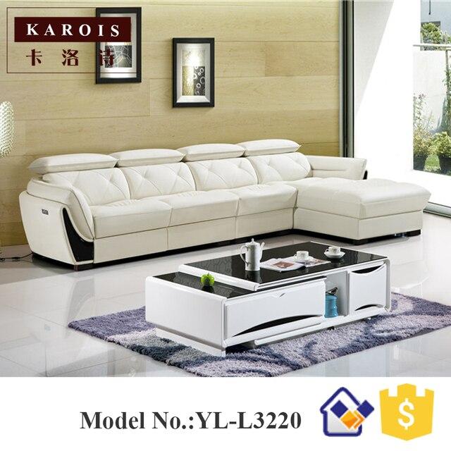 2017 Foshan Moderne Wohnzimmer Möbel Ledersessel Faul Sofa, Europäischen  Leder Sofas, L Form Ledersofa