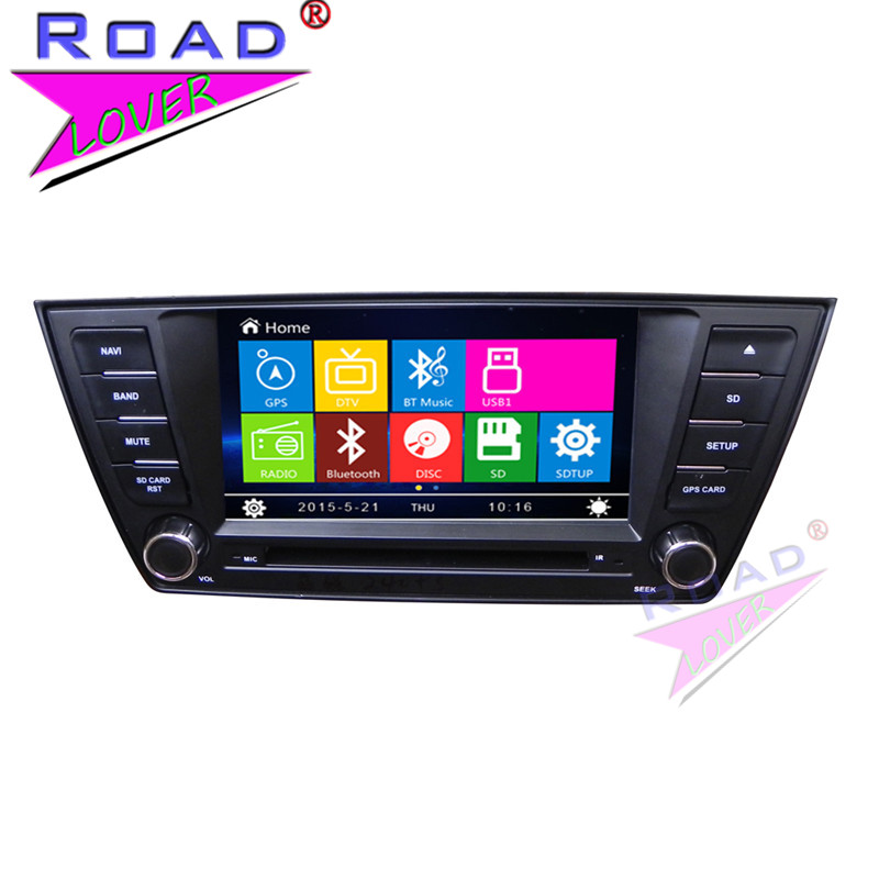 TOPNAVI Wince 6.0 Double Din 7 Car Media Center DVD Player Auto Video For Skoda Superb 2015 Stereo GPS Navigation TFT  BT