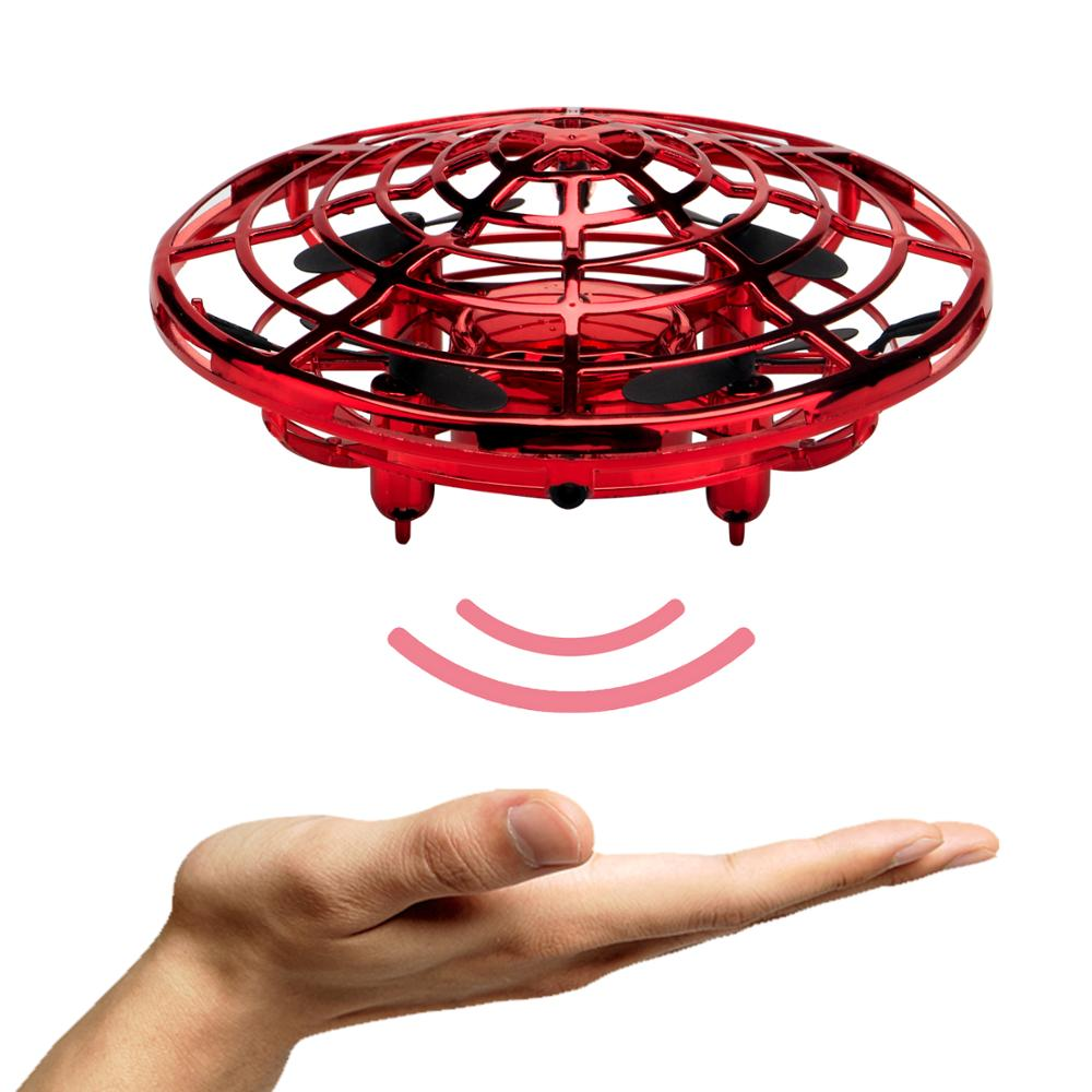 Image 3 - Mini Drones Interactive UFO Flying Ball Toys for Kids and Adults Infrared Sensing Gesture Control RC Drone Helicopter with LED-in RC Helicopters from Toys & Hobbies