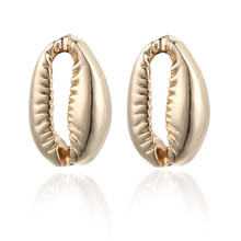 ECODAY Alloy Shell Stud Earrings Fashion Boho for Women Brincos 2019 Oorbellen Accesorios Mujer