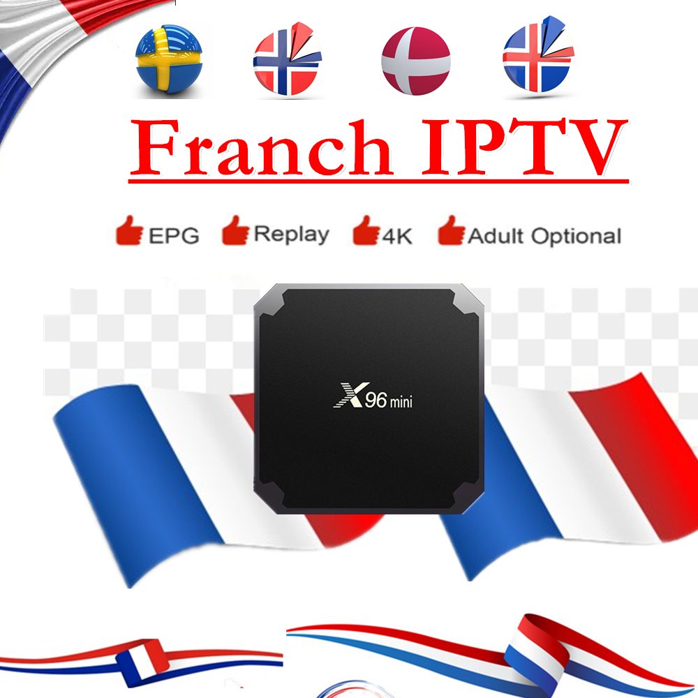 X96Mini IPTV Franch Free 3/6/12 Months IPTV Subscription with 150+ French TV 4700+ IPTV Europe M3U8 Playlist Android Smart TV image