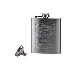 ULKNN Tragbare 7 unzen Edelstahl flachmann mit Box als Geschenk Whisky Ehrlich Glaskolben Flasche Becher Wisky Jerry Können