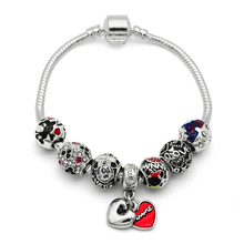 European Bracelets Cartoon Mickey Charms Beads Fits New Pan Bracelets & Bangles Friendship Bracelets DIY Jewelry Gift