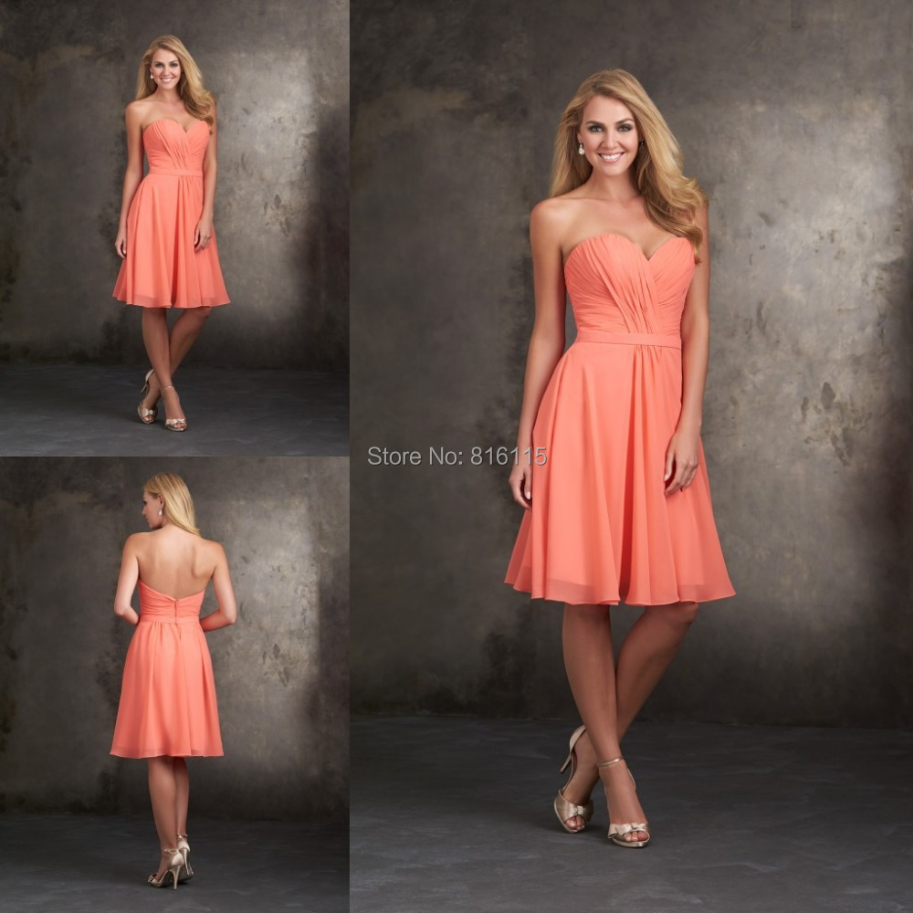 Compare Prices on Coral Peach Bridesmaid Dresses- Online Shopping ...