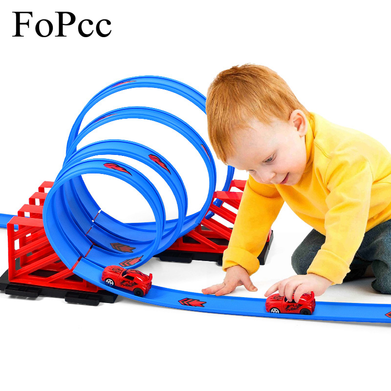 New Magic Track Flexible Rail Racing Car Model Railway Road Magical Truck Pull Back Tracks Cars Set DIY Toys For Children Gifts