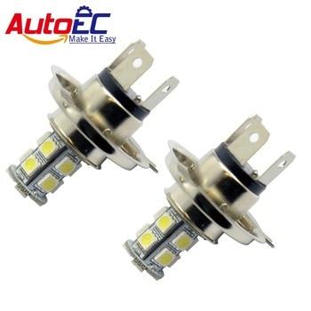 AutoEC 200pcs/lot H4 5050 bulb 18 smd 5050 led Auto Front Fog Led Lamp Headlight Driving Light white blue 12V #LJ08