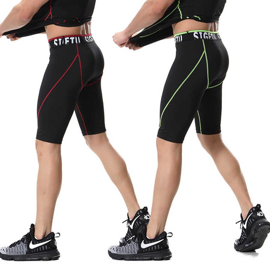 Pantalones cortos de gimnasio para hombre, pantalones cortos de entrenamiento de compresión para correr, Fitness, gimnasio, pantalones cortos, Bermudas activas mma masculina