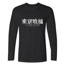 Tokyo Ghoul Long Sleeve Men Shirt Fashion Autumn Tee Shirt Men Funny Japanese Anime Casual Black High Quality T Shirt Men Cotton